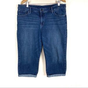 Levi's Jeans Capris Dark High Rise Plus Size 20W